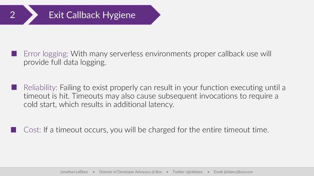 2 Exit Callback Hygiene Jonathan LeBlanc • Dire...