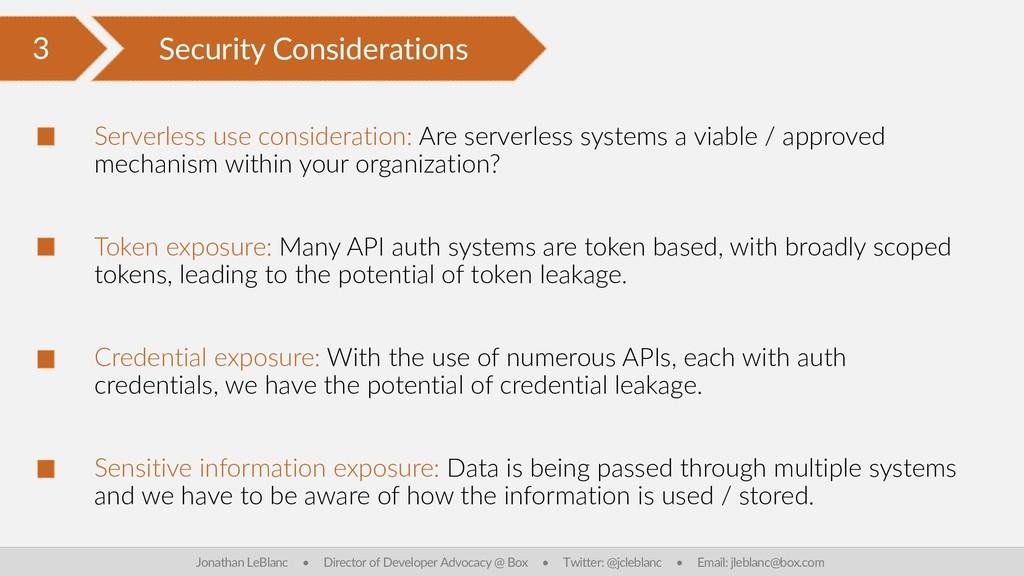 3 Security Considerations Jonathan LeBlanc • Di...