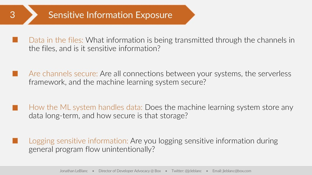 3 Sensitive Information Exposure Jonathan LeBla...