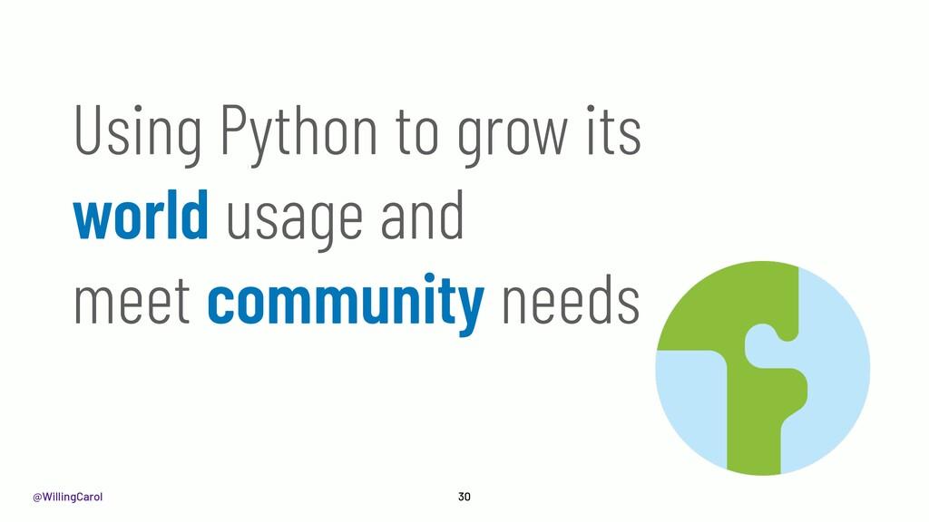 @WillingCarol 30 Using Python to grow its world...