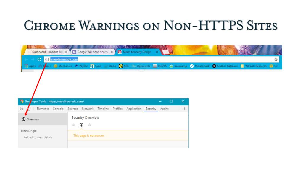 Chrome Warnings on Non-HTTPS Sites
