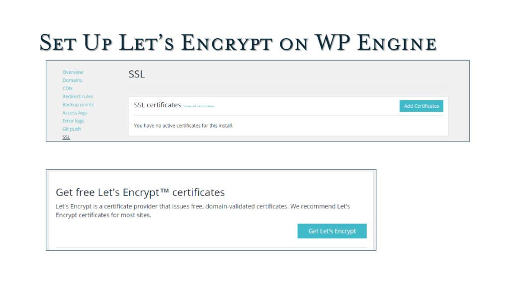 Set Up Let's Encrypt on WP Engine