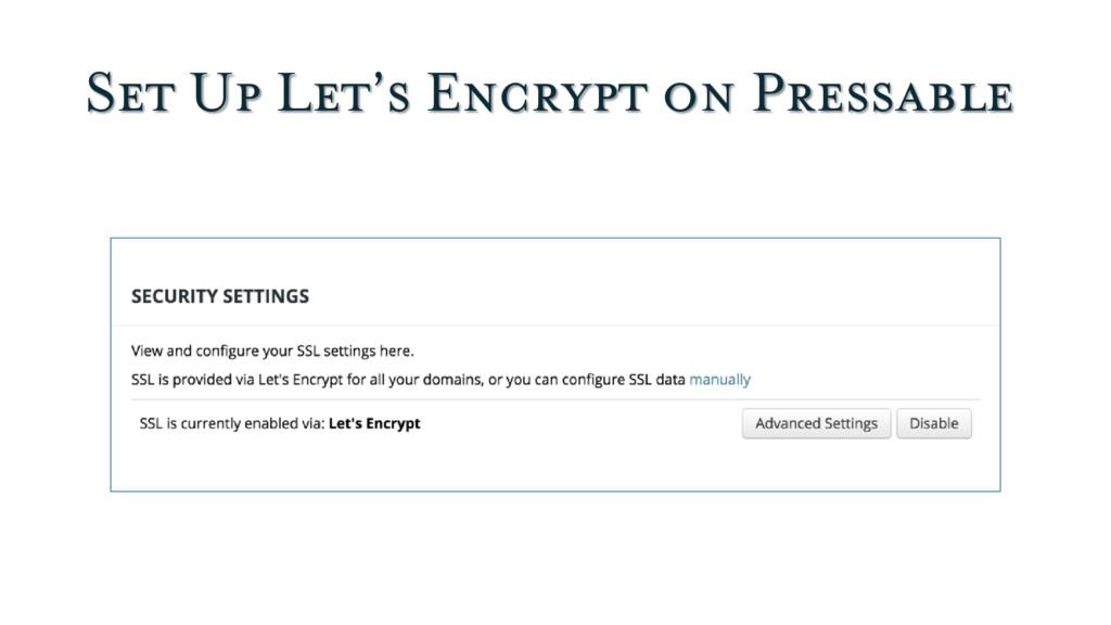 Set Up Let's Encrypt on Pressable