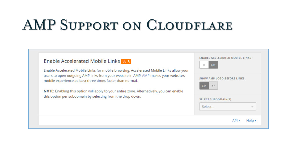 AMP Support on Cloudflare