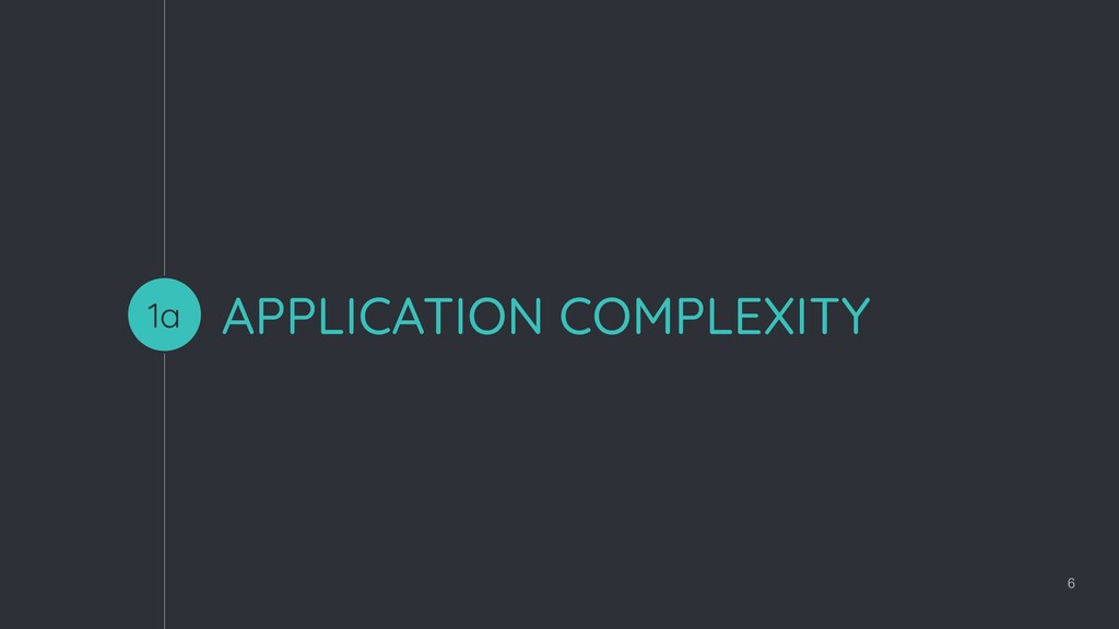 APPLICATION COMPLEXITY 6 1a