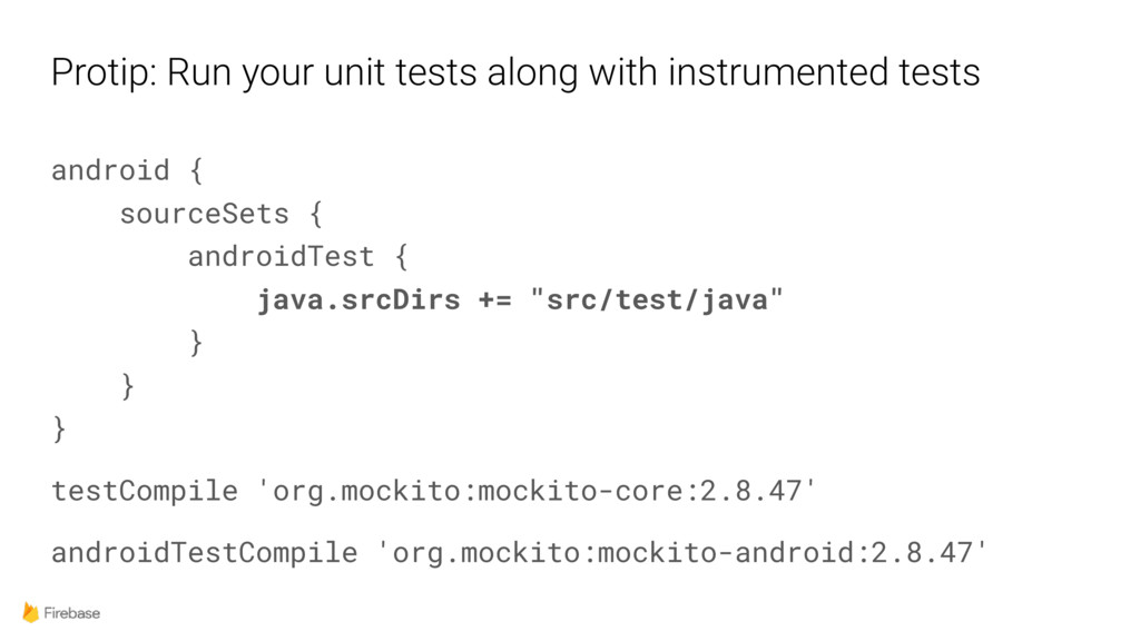 Protip: Run your unit tests along with instrume...