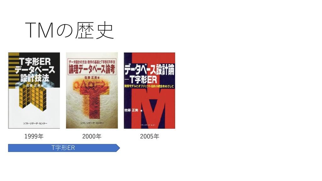 TMの歴史 1999年 2000年 2005年 T字形ER