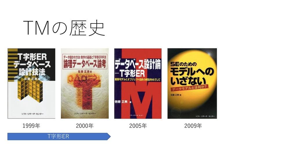 TMの歴史 1999年 2000年 2005年 2009年 T字形ER