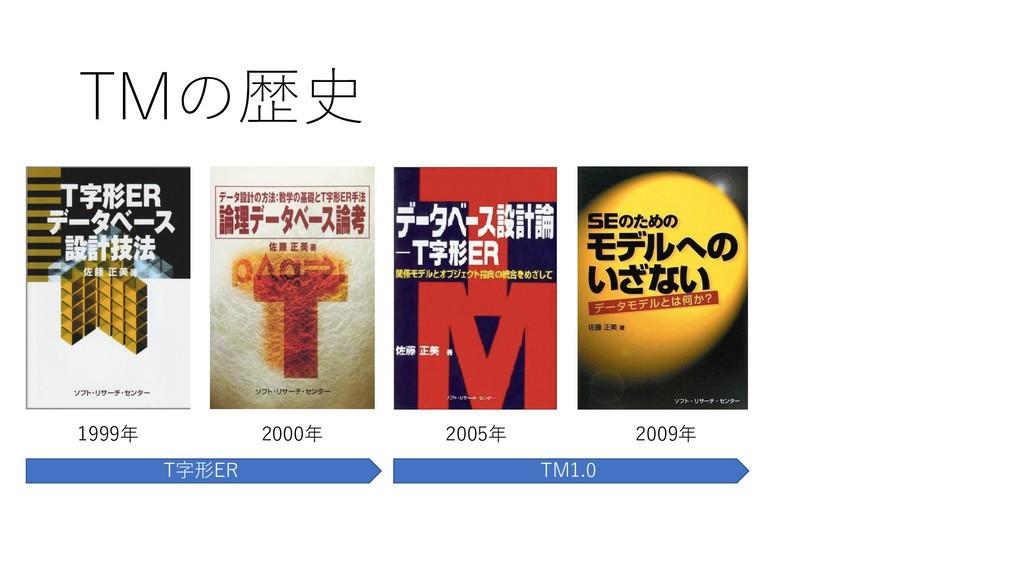 TMの歴史 1999年 2000年 2005年 2009年 T字形ER TM1.0
