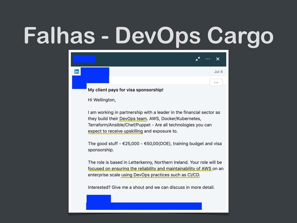 Falhas - DevOps Cargo