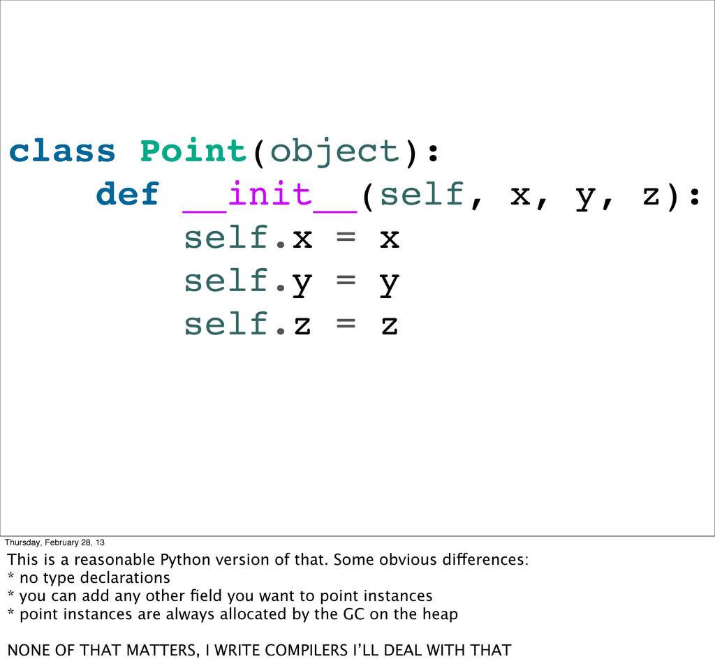 class Point(object): def __init__(self, x, y, z...
