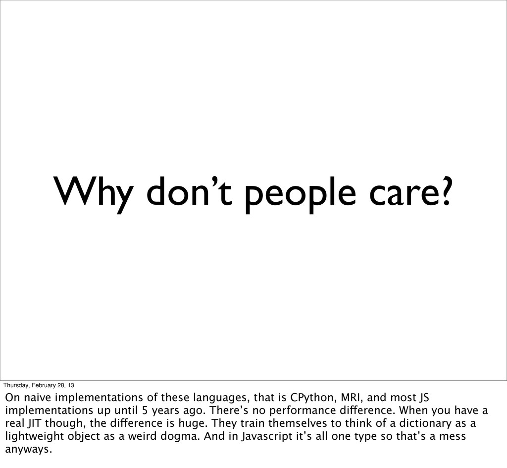 Why don't people care? Thursday, February 28, 1...
