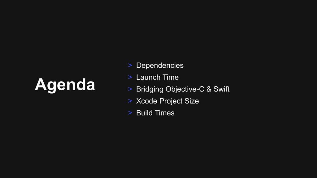 Agenda > Dependencies > Launch Time > Bridging ...
