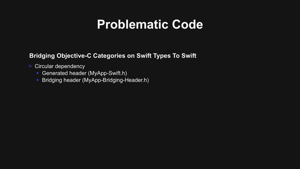 Bridging Objective-C Categories on Swift Types ...
