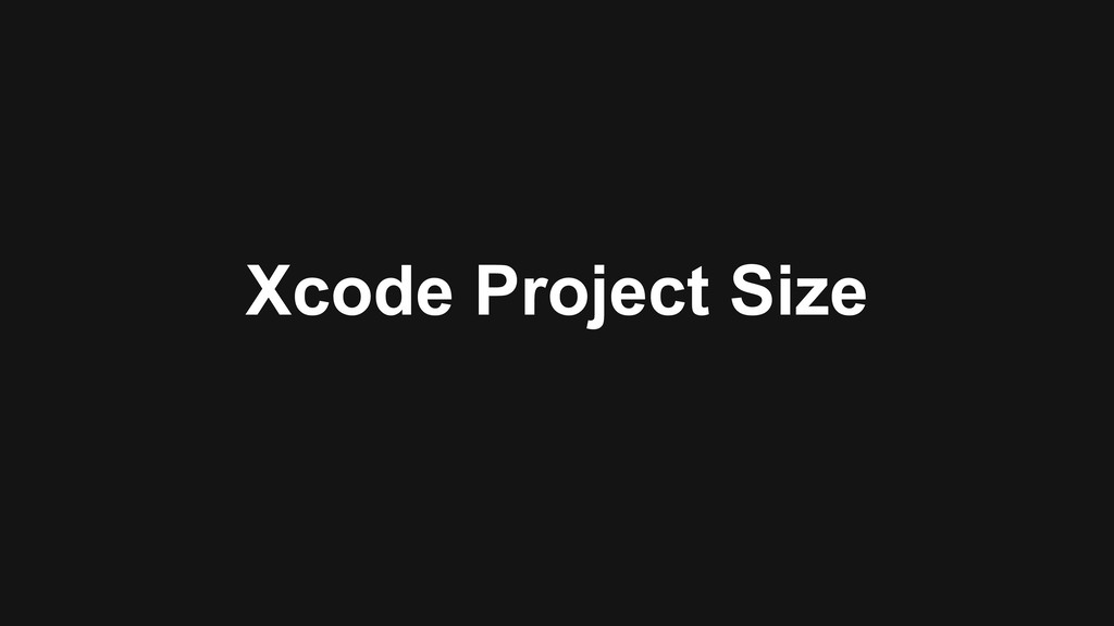 Xcode Project Size