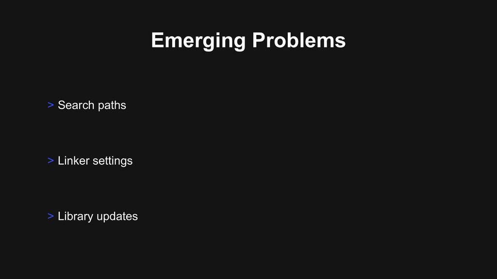 Emerging Problems > Linker settings > Library u...