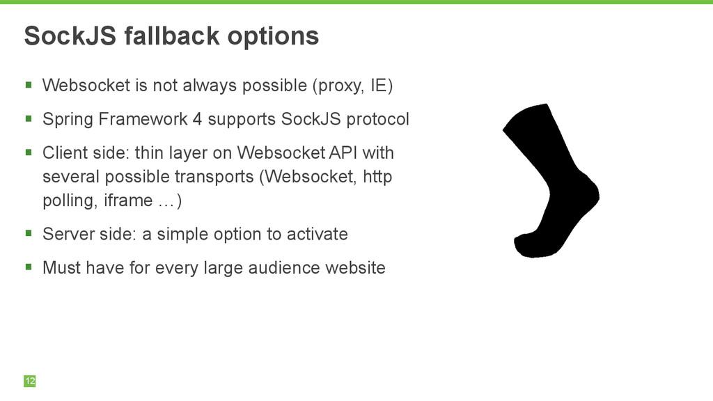 12 SockJS fallback options § Websocket is not ...