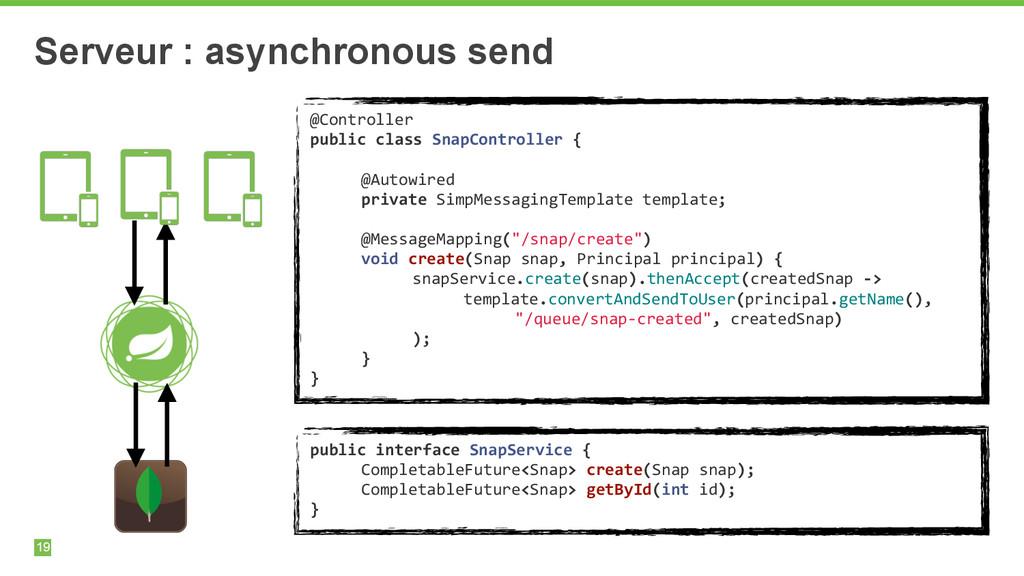 19 Serveur : asynchronous send @Controller  ...