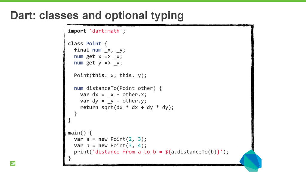 29 Dart: classes and optional typing import ...
