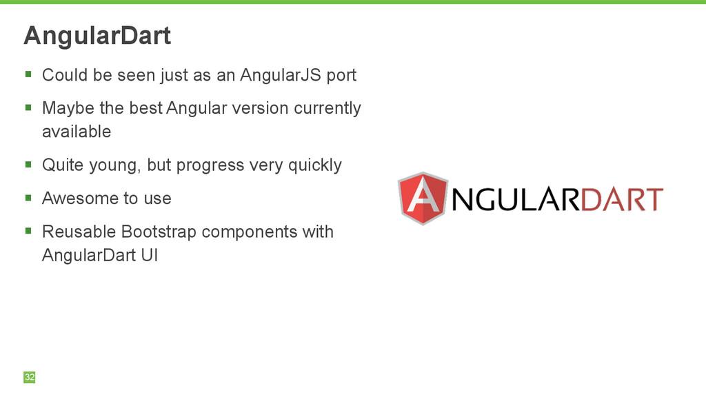 32 AngularDart § Could be seen just as an Angu...