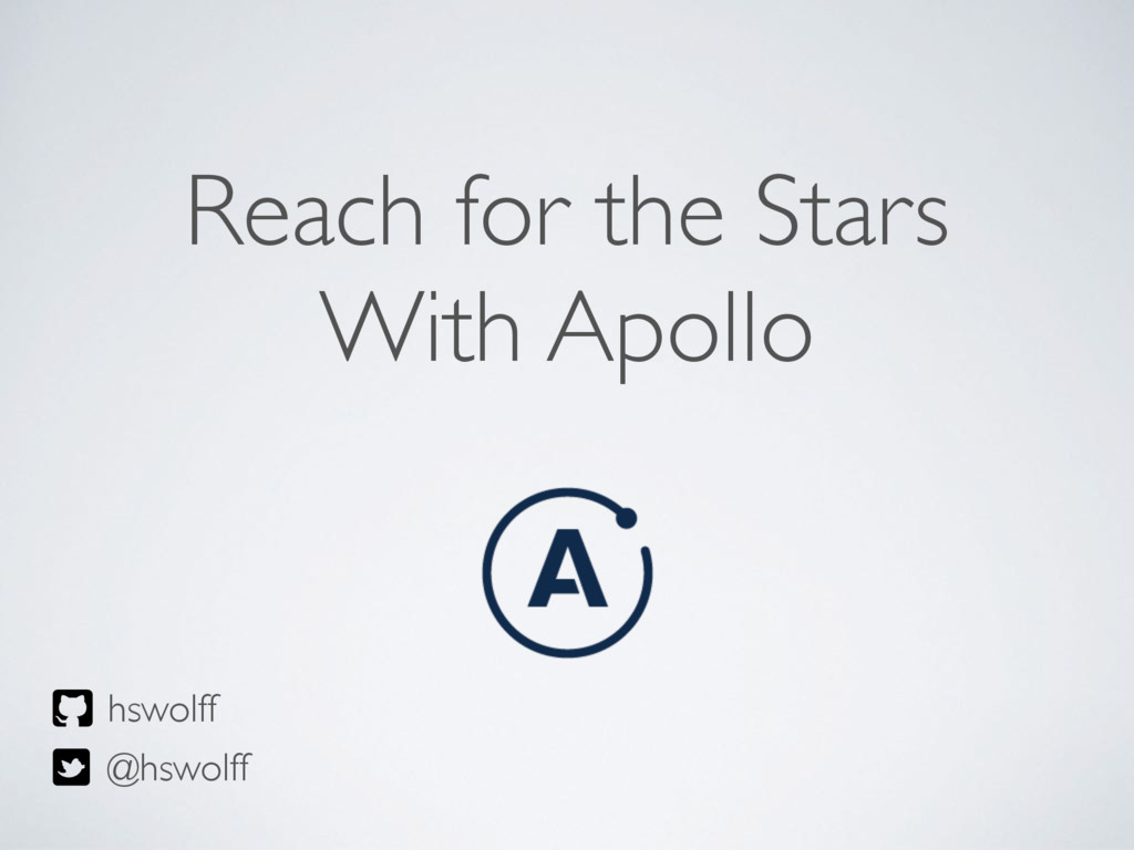 Reach for the Stars With Apollo hswolff @hswolff