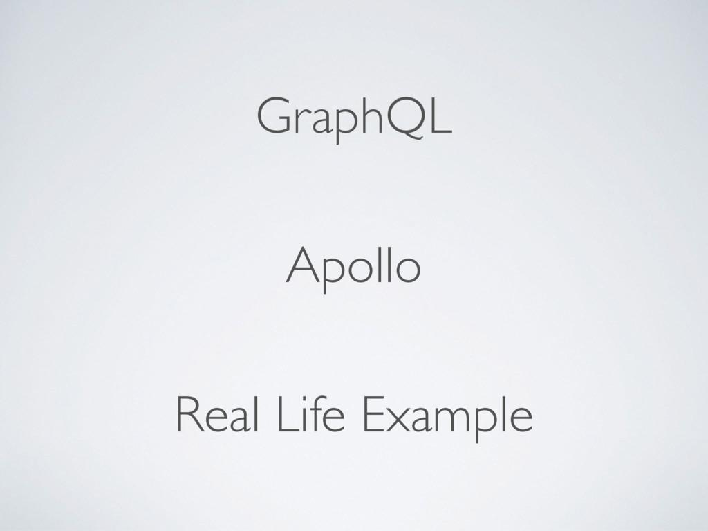 GraphQL Apollo Real Life Example