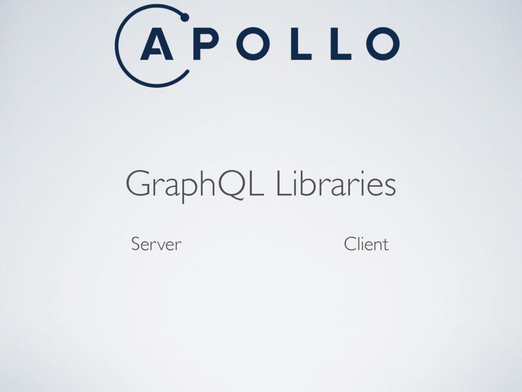 GraphQL Libraries Server Client