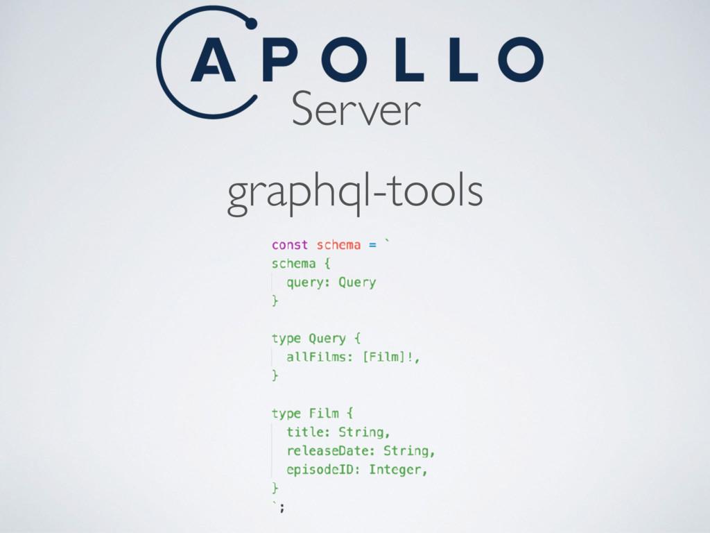 Server graphql-tools