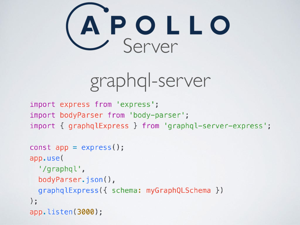 Server graphql-server