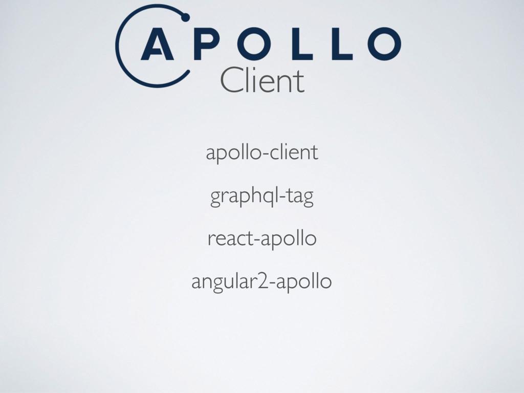 Client apollo-client graphql-tag react-apollo a...