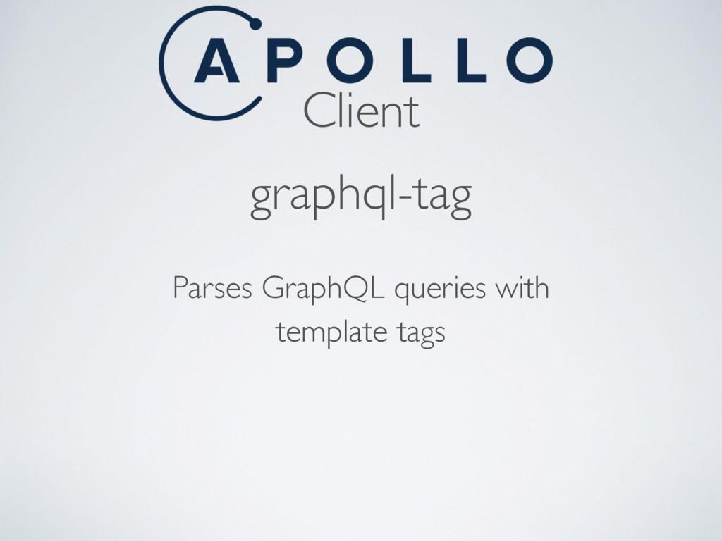 Client graphql-tag Parses GraphQL queries with ...