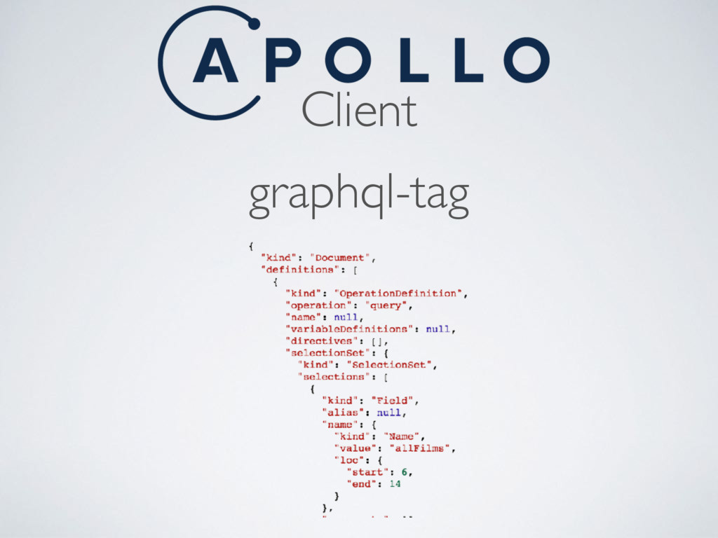 Client graphql-tag