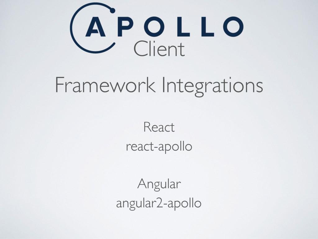 Client Framework Integrations angular2-apollo A...