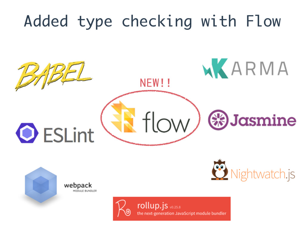 Added type checking with Flow NEW!!