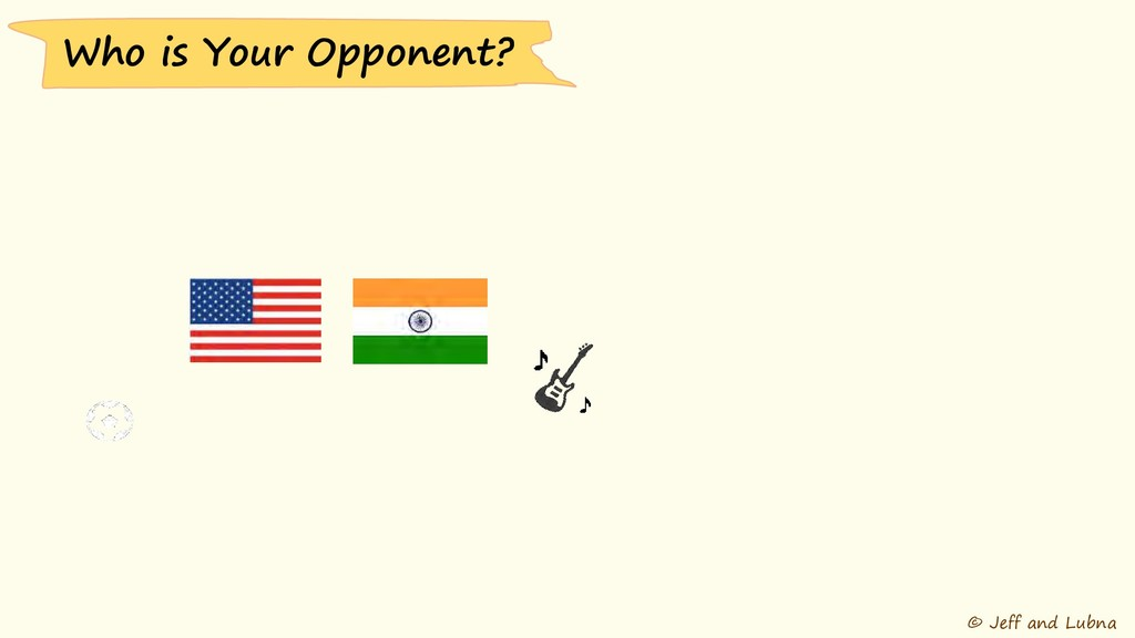 © Jeff and Lubna Who is Your Opponent?