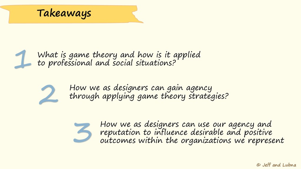 © Jeff and Lubna What is game theory and how is...
