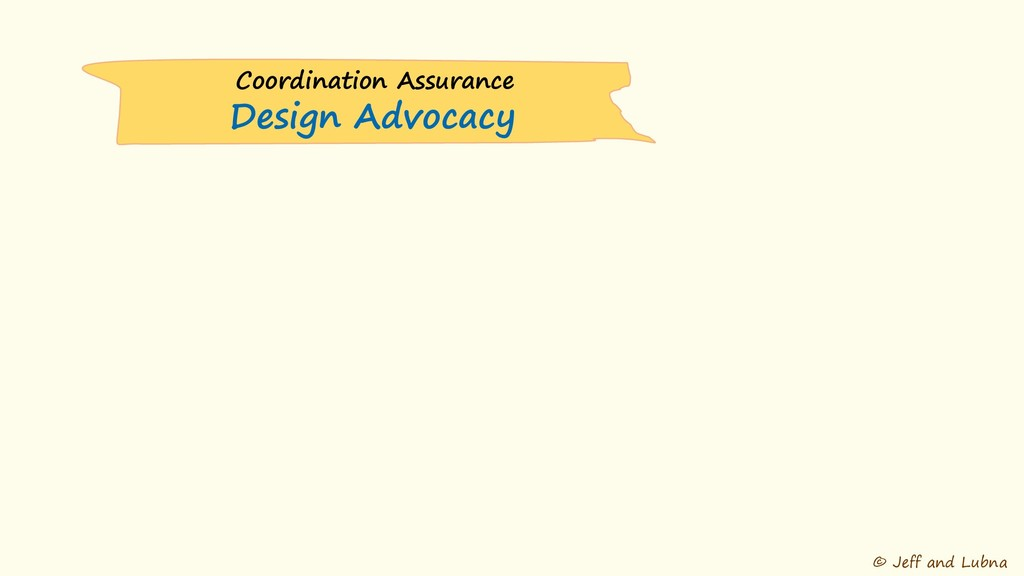 © Jeff and Lubna Coordination Assurance Design ...