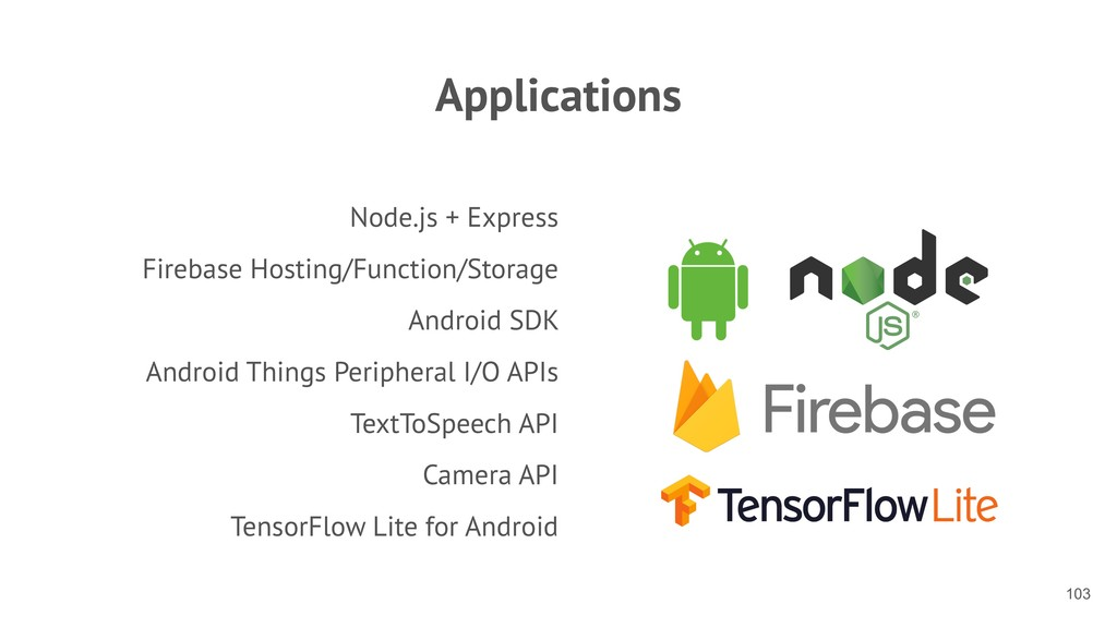 Applications Node.js + Express Firebase Hosting...