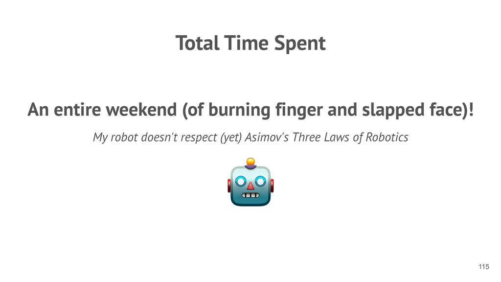 Total Time Spent An entire weekend (of burning ...