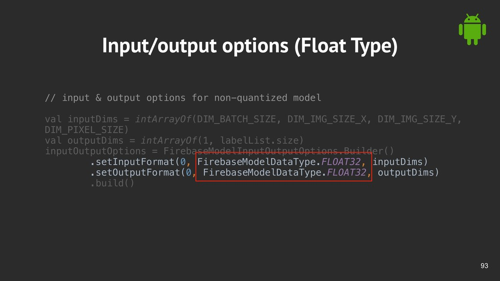 !93 Input/output options (Float Type) // input ...