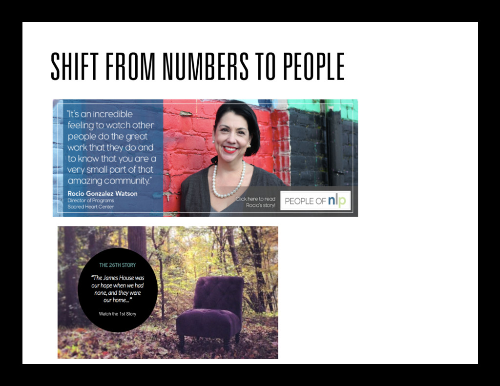 SHIFT FROM NUMBERS TO PEOPLE