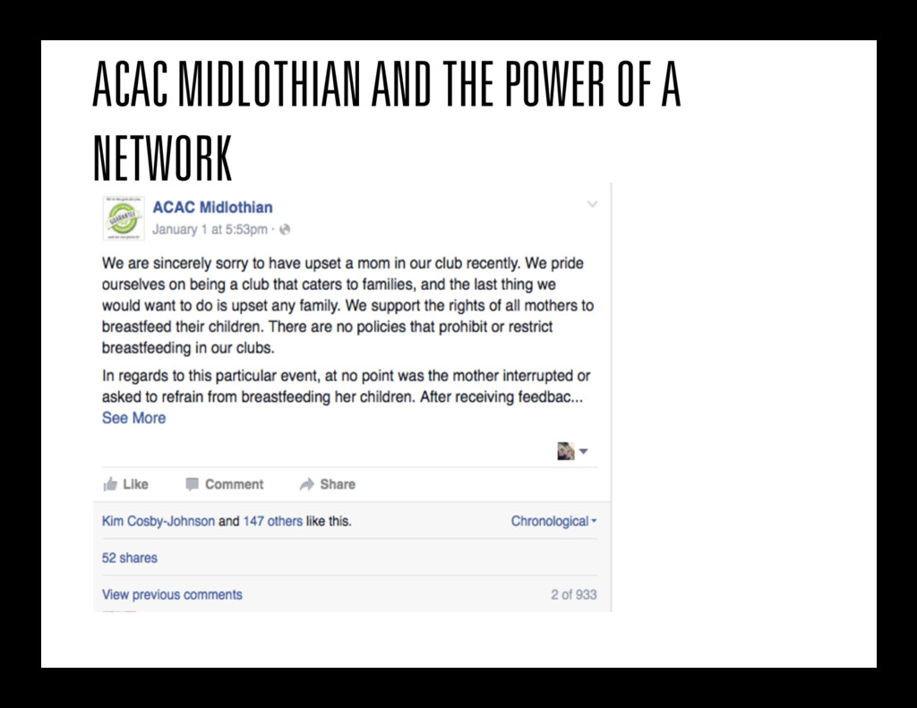 ACAC MIDLOTHIAN AND THE POWER OF A NETWORK