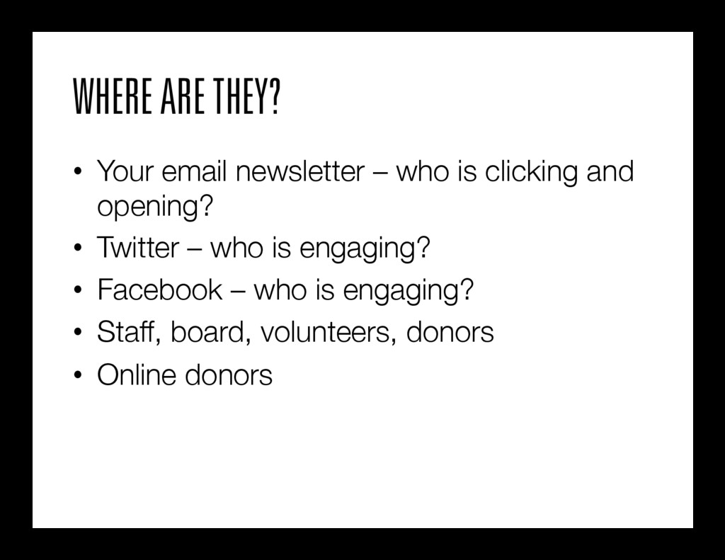 WHERE ARE THEY? • Your email newsletter – who ...