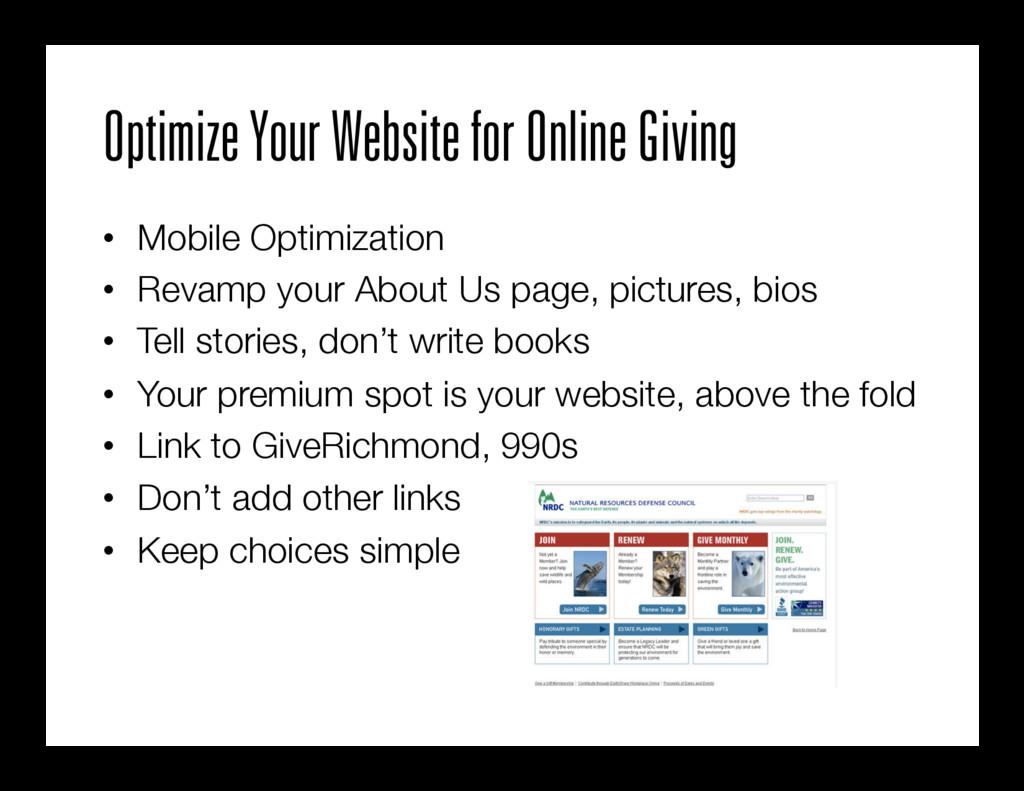Optimize Your Website for Online Giving • Mobi...