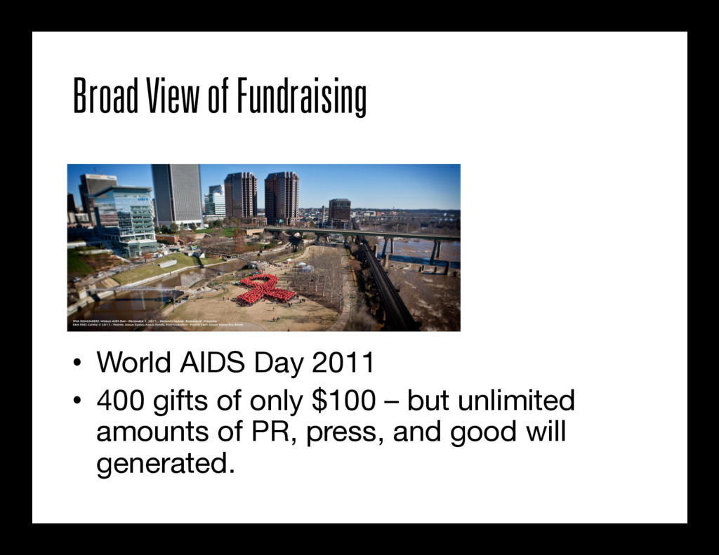 Broad View of Fundraising • World AIDS Day 201...