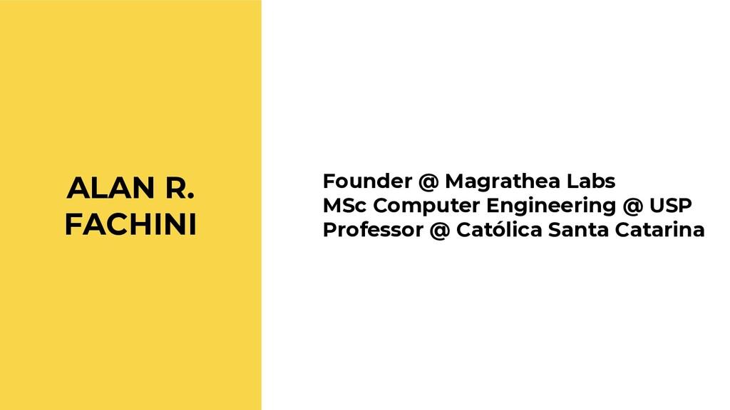 Founder @ Magrathea Labs MSc Computer Engineeri...