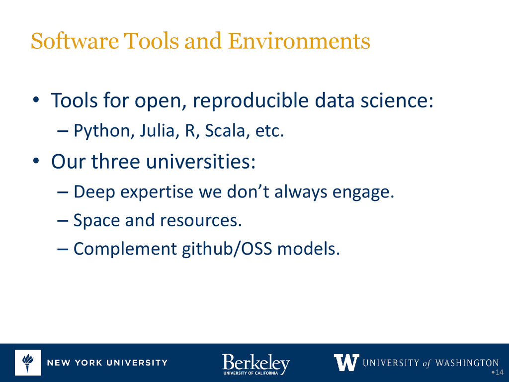Software Tools and Environments • Tools for ope...