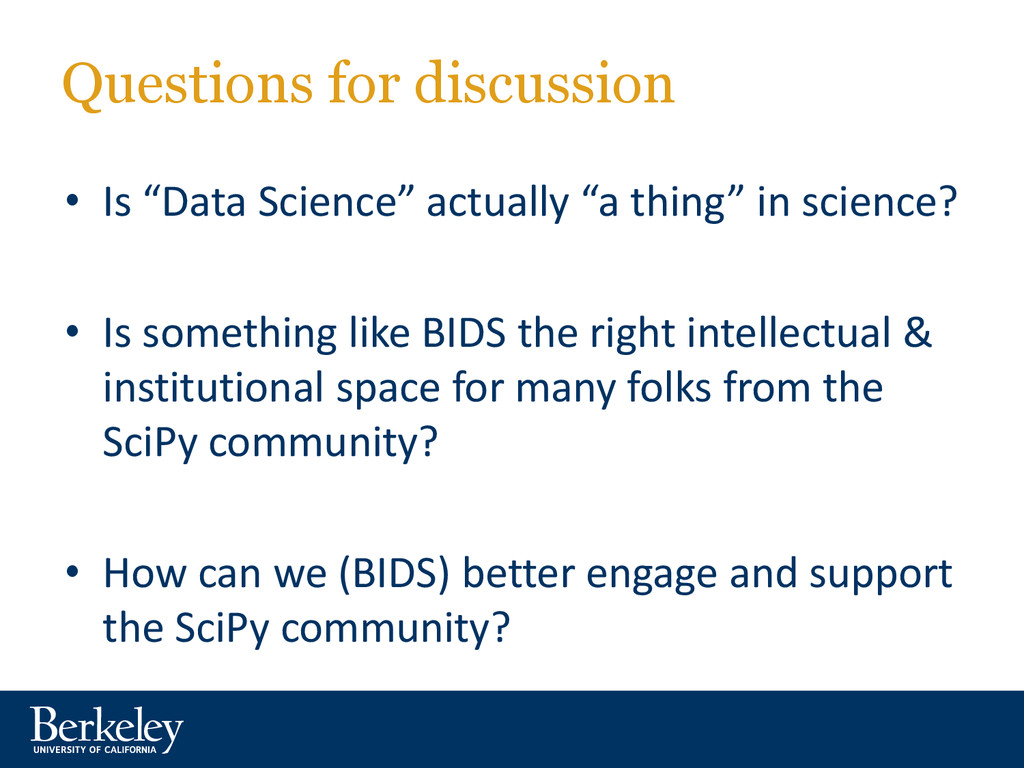 "Questions for discussion • Is ""Data Science"" ac..."