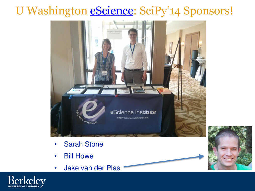 U Washington eScience: SciPy'14 Sponsors! • Sar...