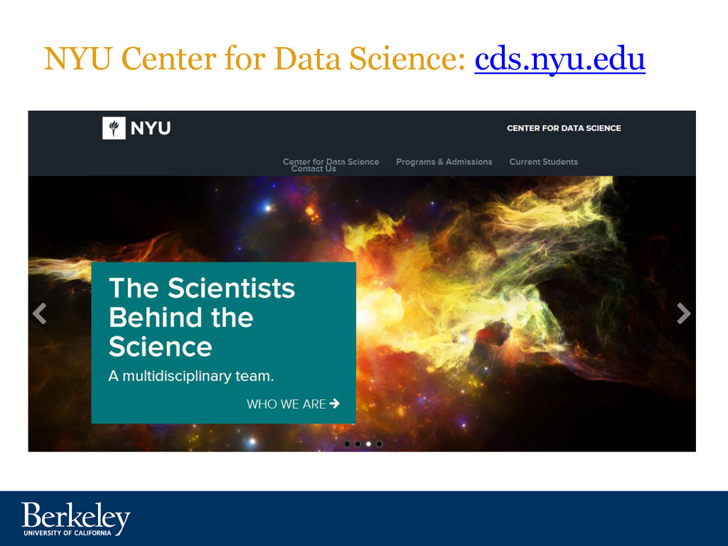 NYU Center for Data Science: cds.nyu.edu